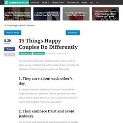 15 Things Happy Couples Do Differently