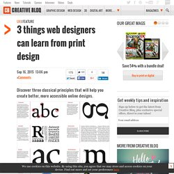 3 things web designers can learn from print design