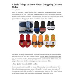 4 Basic Things to Know About Designing Custom Slides – Telegraph