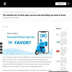 Things to Know Before Developing a delivery app like Favor