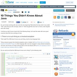 10 Things You Didn't Know About Java