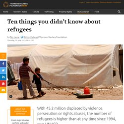 Ten things you didn't know about refugees