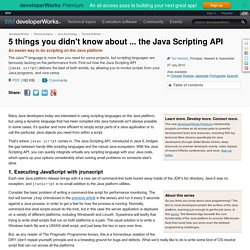 5 things you didn't know about ... the Java Scripting API