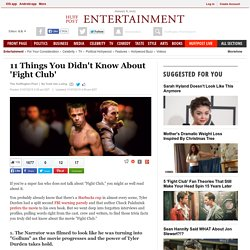 11 Things You Didn't Know About 'Fight Club'