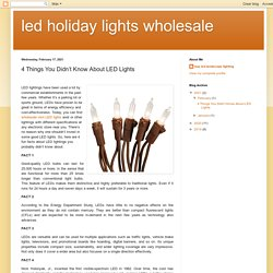 4 Things You Didn't Know About LED Lights