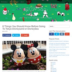 6 Things You Should Know Before Going To Tokyo Disneyland or DisneySea