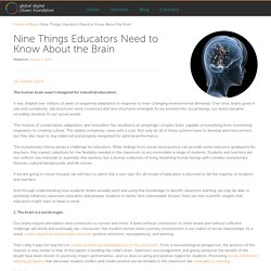 Nine Things Educators Need to Know About the Brain