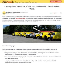 4 Things Your Electrician Wants You To Know - Mr. Electric of Fort Worth