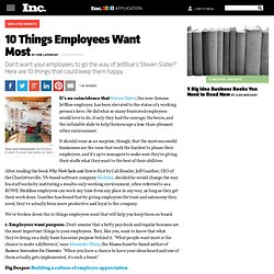 10 Things Employees Want Most