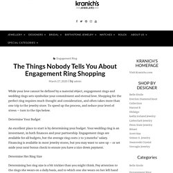 The Things Nobody Tells You About Engagement Ring Shopping