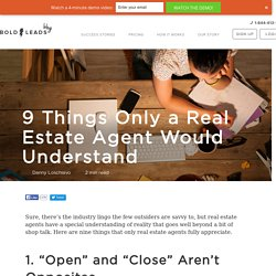 9 Things Only a Real Estate Agent Would Understand
