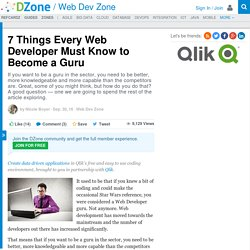 7 Things Every Web Developer Must Know to Become a Guru