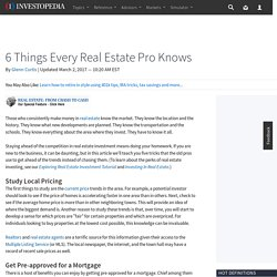 6 Things Every Real Estate Pro Knows