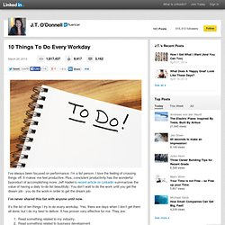 10 Things To Do Every Workday