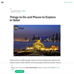 Things to Do and Places to Explore in Qatar