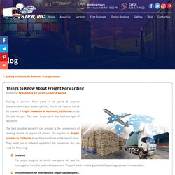 Things to Know About Freight Forwarding