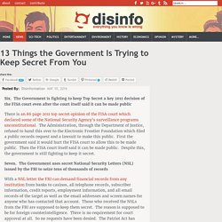 13 Things the Government Is Trying to Keep Secret From You - Page 2 of 2