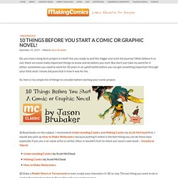 10 Things Before You Start A Comic Or Graphic Novel! - Making Comics (dotCom)