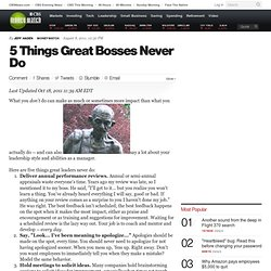 5 Things Great Bosses Never Do | BNET