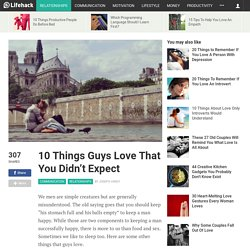 10 Things Guys Love That You Didn't Expect