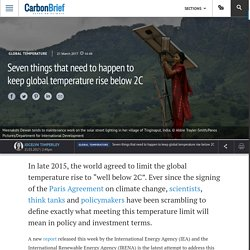 Seven things that need to happen to keep global temperature rise below 2C