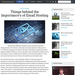 Things behind the Importance's of Email Hosting
