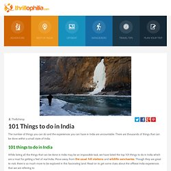 Things to do in India - 101 Best one