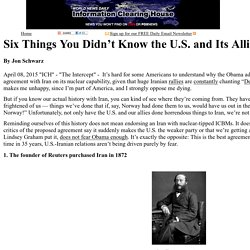 Six Things You Didn't Know the U.S. and Its Allies Did to Iran  :    Information Clearing House - ICH