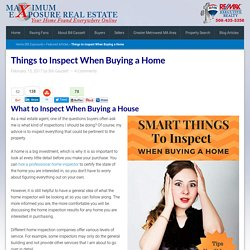 Things to Inspect When Buying a Home
