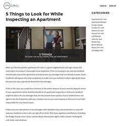 5 Things to Look for While Inspecting an Apartment For Rent