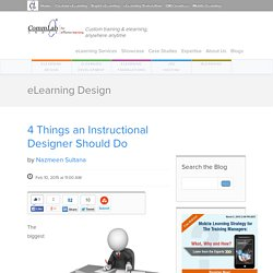4 Things an Instructional Designer Should Do