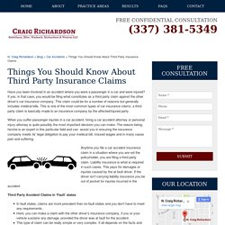 Things You Should Know About Third Party Insurance Claims