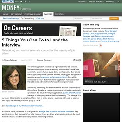 5 Things You Can Do to Land the Interview