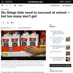 Six things kids need to succeed at school — but too many don't get