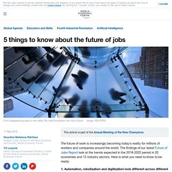 5 things to know about the future of jobs