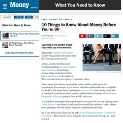 10 Things to Know About Money Before You're 30
