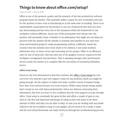 Things to know about office.com/setup?