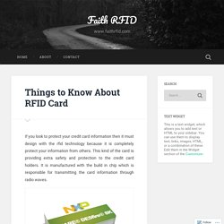 Things to Know About RFID Card – Faith RFID