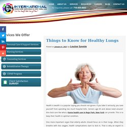 Things to Know for Healthy Lungs