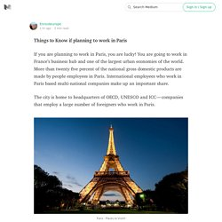 Things to Know if planning to work in Paris