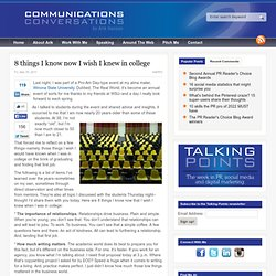 8 things I know now I wish I knew in college |