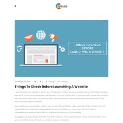 Things To Check Before Launching A Website