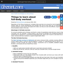 Things to learn about full-body workout