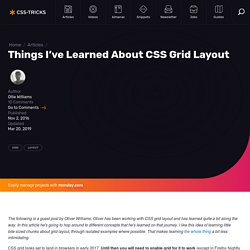 Things I've Learned About CSS Grid Layout
