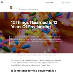 12 Things I Learned In 12 Years Of Freelancing