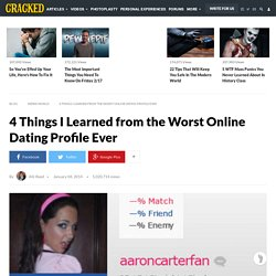 Worst online dating profiles