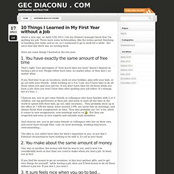 10 Things I Learned in My First Year without a Job « Gec Diaconu . com