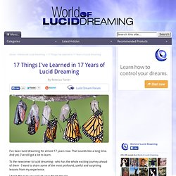17 Things I've Learned in 17 Years of Lucid Dreaming
