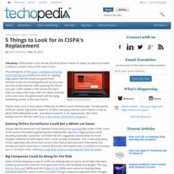 5 Things to Look for in CISPA's Replacement