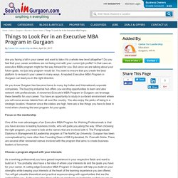 Things to Look For in an Executive MBA Progra...
